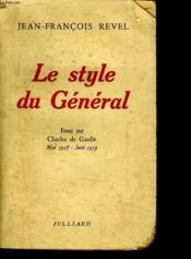 Le Style Du General. - Couverture - Format classique