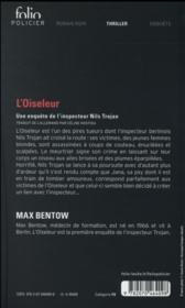 L'oiseleur - 4ème de couverture - Format classique