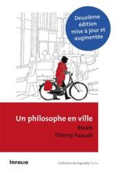 Un philosophe en ville - Couverture - Format classique
