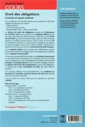 Droit des obligations - contrat et quasi contrat (8e édition) - 4ème de couverture - Format classique