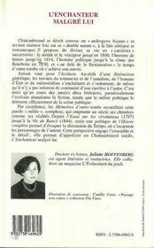 L'Enchanteur Malgre Lui ; Poetique De Chateubriand - 4ème de couverture - Format classique