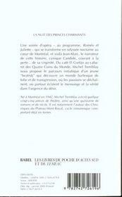 La Nuit Des Princes Charmants - 4ème de couverture - Format classique