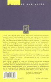 Chagrins Precoces - 4ème de couverture - Format classique