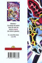 Yu-Gi-Oh t.15 - 4ème de couverture - Format classique