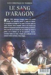 Les chroniques noires t.2 ; le sang d'aragon - 4ème de couverture - Format classique