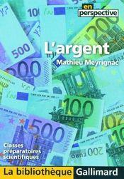 L'argent - Couverture - Format classique