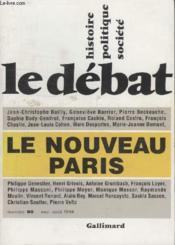Collection Le Debat N° 80.Le Nouveau Paris. - Couverture - Format classique