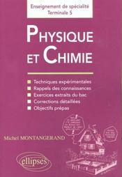 Physique Et Chimie Enseignement De Specialite Terminale S - Intérieur - Format classique