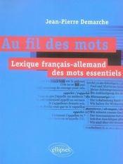 Au fil des mots ; lexique français-allemand des mots essentiels - Intérieur - Format classique
