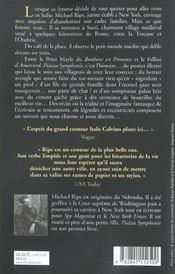 Piazza symphonie - 4ème de couverture - Format classique