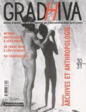 Cahier De Gradhiva N.30-31 ; Dossier : Archives Et Anthropologie - Couverture - Format classique