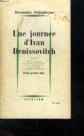 Un Journee D Ivan Denissovitch. - Couverture - Format classique