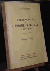 Conferences De Clinique Medicale Pratique - 10e Serie - Couverture - Format classique