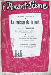 L'Avant-Scene Journal Du Theatre N° 83 - La Maison De La Nuit - Couverture - Format classique