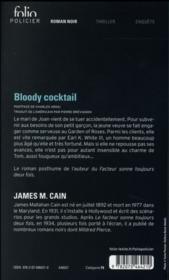 Bloody cocktail - 4ème de couverture - Format classique