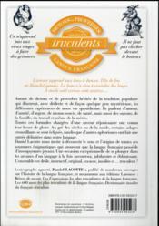 Dictons et proverbes les plus truculents de la langue française - 4ème de couverture - Format classique
