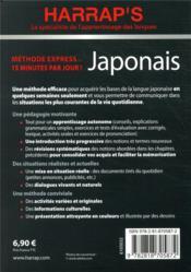 Méthode express ; japonais - 4ème de couverture - Format classique