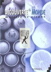 Decouverte monde matiere vivant cahier activites niveau 2 - vol02 - Intérieur - Format classique