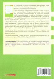 Dynamique économique (9e édition) - 4ème de couverture - Format classique