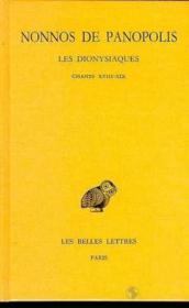 Dionysiaques t.7 ; chapitres 18-19 - Couverture - Format classique