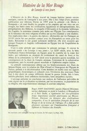 Histoire De La Mer Rouge De Lesseps A Nos Jours - 4ème de couverture - Format classique