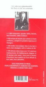 Pudlo paris 2006 - le point - 4ème de couverture - Format classique