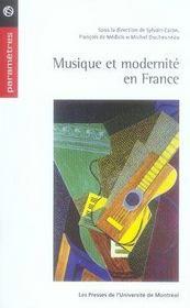 Musique et modernité en france - Intérieur - Format classique