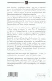 Initiation à la philosophie - 4ème de couverture - Format classique