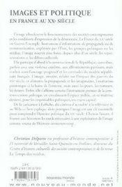 Images et politique en france au XX siècle - 4ème de couverture - Format classique