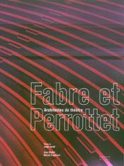 Fabre Et Perrottet. Architectes De Theatre - Intérieur - Format classique