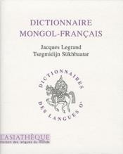 Dictionnaire mongol/francais (2ème édition) - Couverture - Format classique