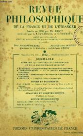 Revue Philosophique De La France Et De L'Etranger, N° 10-12, Oct.-Dec. 1952 - Couverture - Format classique