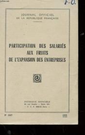 Journal Officiel De La Republique - Participation Des Salaries Aux Fruits De L'Expansion Des Entreprises N° 1317 - Couverture - Format classique