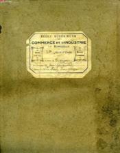 ECOLE SUPERIEURE DE COMMERCE ET D'INDUSTRIE DE BORDEAUX, 2e ANNEE, COURS DE FRANCAIS - Couverture - Format classique