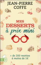Mes desserts à prix mini - Couverture - Format classique