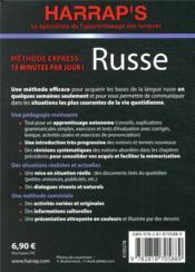 Méthode express ; russe ; spécial débutants - 4ème de couverture - Format classique