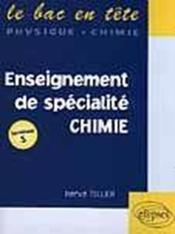 Enseignement De Specialite De Chimie - Couverture - Format classique