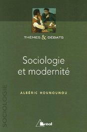 Sociologie et modernité - Couverture - Format classique