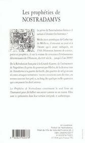 Les prophéties de Nostradamus - 4ème de couverture - Format classique