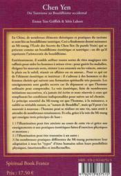 Chen-Yen ; du tantrisme au bouddhisme occidental (2e édition) - 4ème de couverture - Format classique