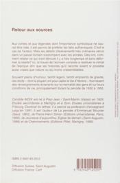 Retour aux sources ; histoires brèves et anecdotes dans le Val d'Hérens - 4ème de couverture - Format classique