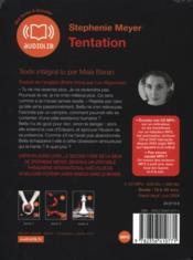 Twilight t.2 ; tentation - 4ème de couverture - Format classique