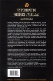 Un portrait de Gerbert d'Aurillac ; inventeur d'un abaque, utilisateur précoce des chiffres arabes, et pape de l'an mil - 4ème de couverture - Format classique