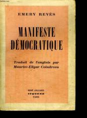 Manifeste Democratique. - Couverture - Format classique