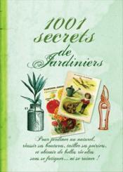 1001 secrets de jardiniers - Couverture - Format classique