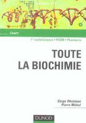 Toute la biochimie - Intérieur - Format classique