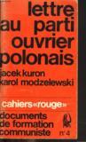 """Lettre Au Parti Ouvrier Polonais. Cahiers """"rouge"""". Documents De Formation Communiste N°4."""