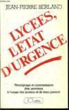 Lycees, L'Etat D'Urgence