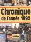 Chronique de l'année 1992