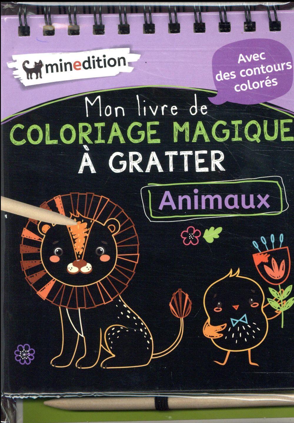 Mon Livre De Coloriage Magique A Gratter Animaux Eva